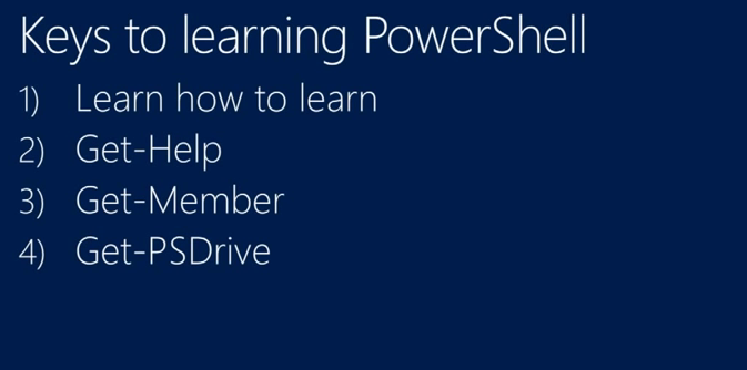 slide about learning powershell